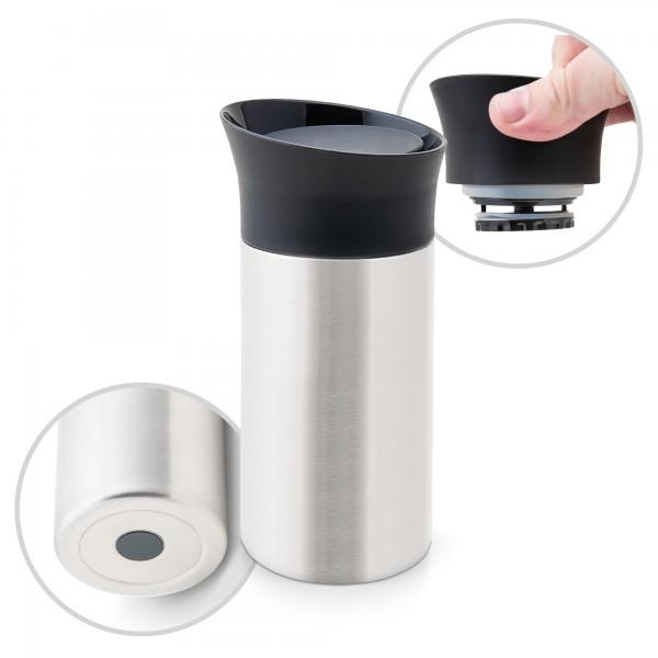 Edelstahl Isolierbecher Chicago 0,3 L mit Press & Drink Funktion