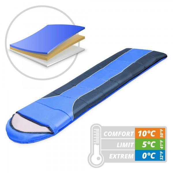 Schlafsack 230 x 80 cm - blau - bis 0 °C