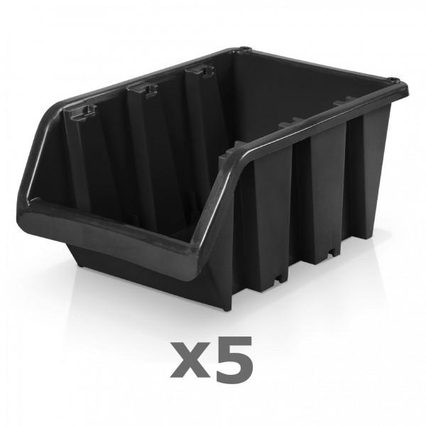 5 x Lagerbox Größe 6 schwarz