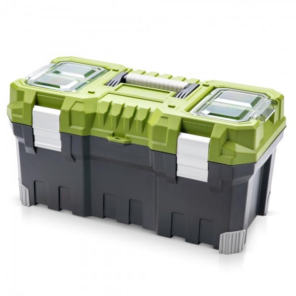 Kunststoff Universal Sortiments Werkzeugkoffer 55 cm - schwarz/grün