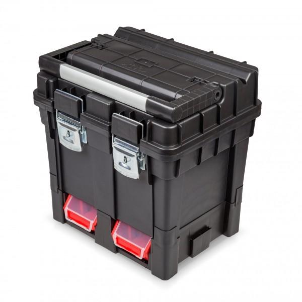 Kunststoff Werkzeugkoffer mit Alugriff - 450 x 350 x 450 mm