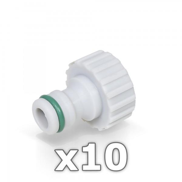 10 x Hahnstück für Wasserhahn 3/4'' Zoll - GREEN LINE -