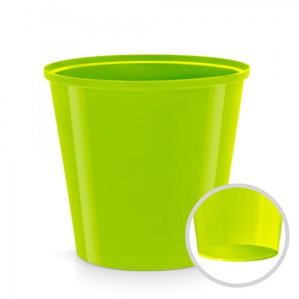 Kunststoff Blumentopf - limette - 130 mm Durchmesser - rund