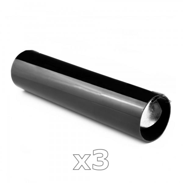 3 x PVC Röhrenfalle - Lebendfalle für Nager mit Sichtschlitz - schwarz