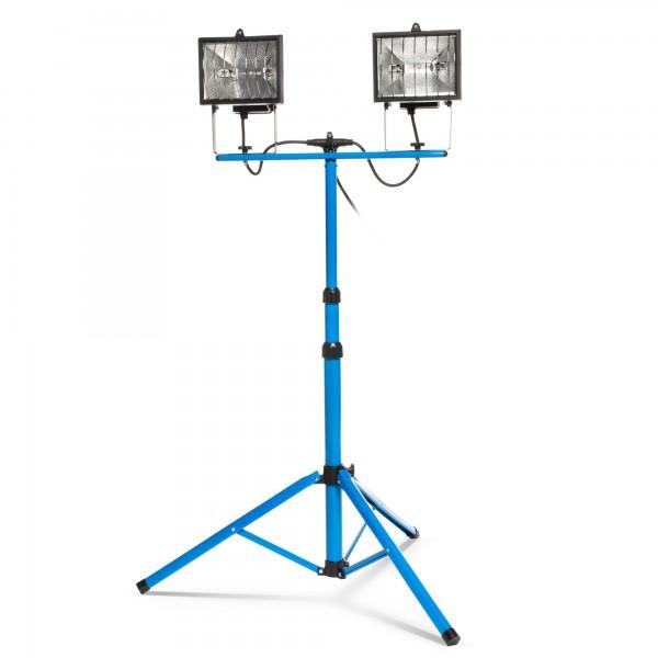 Doppel-Baustrahler mit 2x400W Halogenlampen