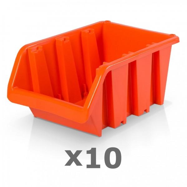 10 x Lagerbox Größe 6 rotbraun
