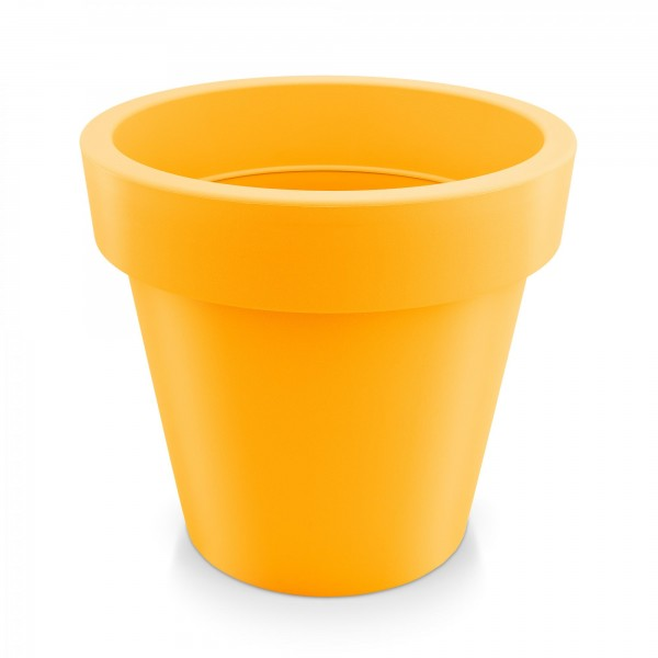Kunststoff Blumentopf - orange - Höhe 181 mm