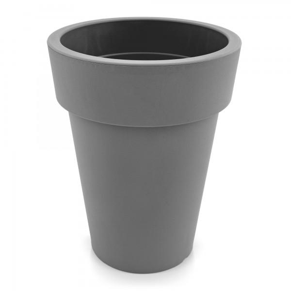 Kunststoff Blumentopf schmal grau - Höhe 259 mm
