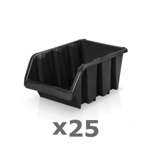 25 x Lagerbox Größe 3 schwarz