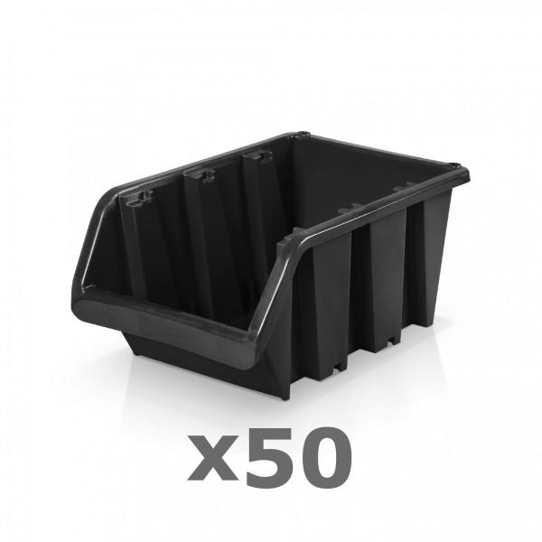 50 x Lagerbox Größe 4 schwarz