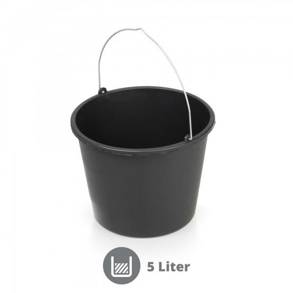 Mörteleimer 5 Liter schwarz
