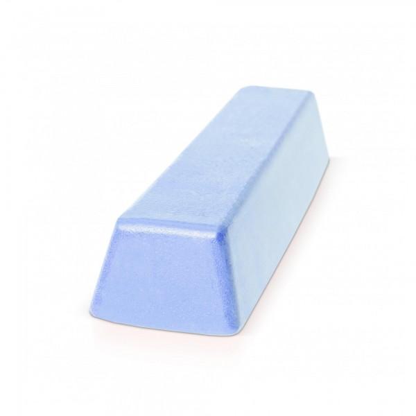 500 g Block Polierpaste für Kunststoff & Metall - fein/blau